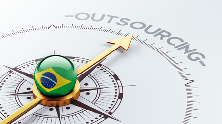 contracting: Brazil High Resolution Outsourcing Concept Stock Photo