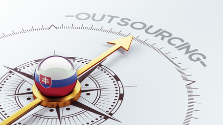 Slovakia High Resolution Outsourcing Concept Stock Photo