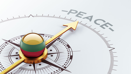 pacifist: Lithuania High Resolution Peace Concept Stock Photo