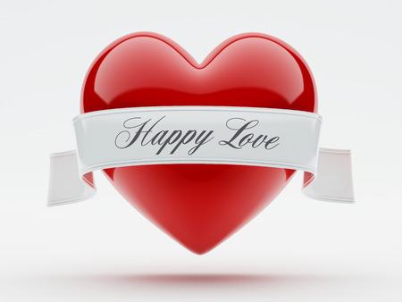 i nobody: Heart Isolated on white background Stock Photo