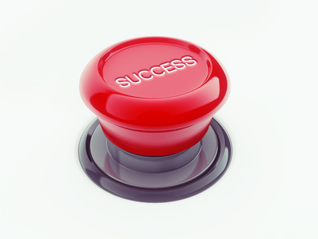 Success Button isolated on white backgrund photo