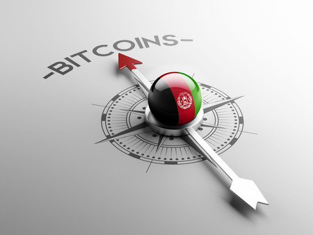electronic guide: Afghanistan  High Resolution Bitcoin Concept Stock Photo