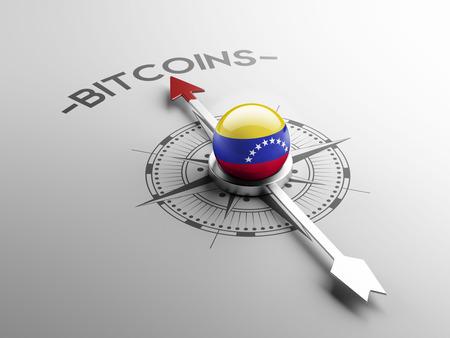 electronic guide: Venezuela High Resolution Bitcoin Concept