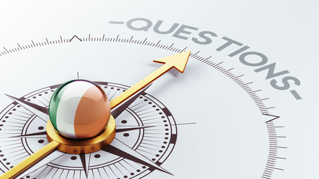 inquiry: Ireland High Resolution Questions Concept Stock Photo