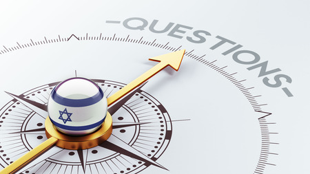 Israel High Resolution Questions Concept Stock Photo