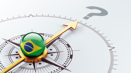 Brazil High Resolution Question Mark Concept