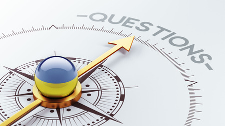 inquiry: Ukraine High Resolution Questions Concept Stock Photo