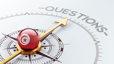 tunisie: Tunisia High Resolution Questions Concept Stock Photo