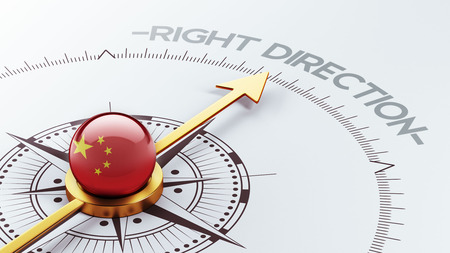 China High Resolution Right Direction Concept photo