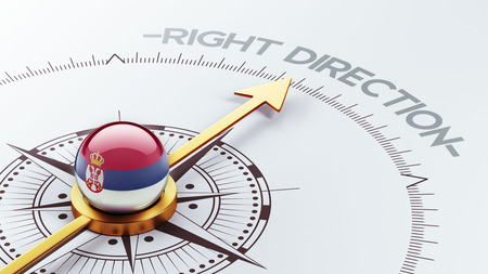 Serbia High Resolution Right Direction Concept photo