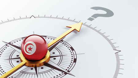 Tunisia High Resolution Question Mark Concept