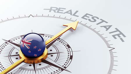 new zealand word: New Zealand High Resolution Real Estate Concept Stock Photo