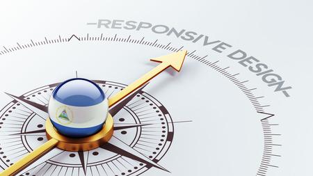 Nicaragua High Resolution Responsive Design Concept photo