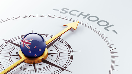 new zealand word: New Zealand High Resolution School Concept Stock Photo