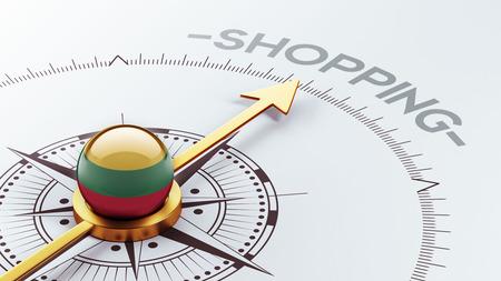 Lithuania High Resolution Shopping Concept photo