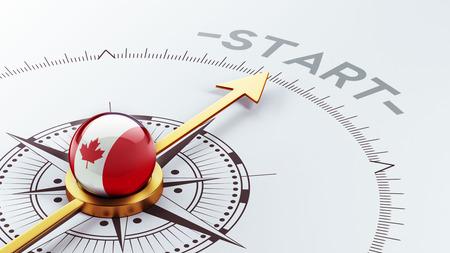 Canada met hoge resolutie Start Concept