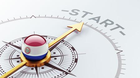 Paraguay met hoge resolutie Start Concept