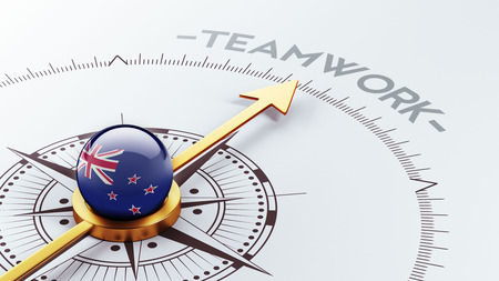 new zealand word: New Zealand High Resolution Teamwork Concept Stock Photo