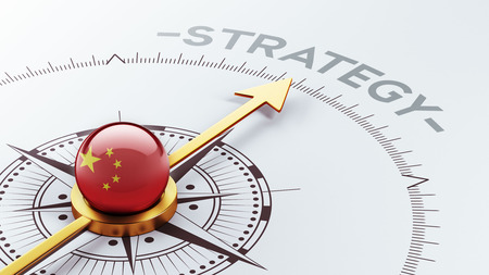 China hoge resolutie Strategy Concept