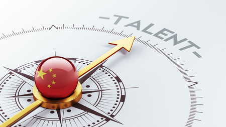 headhunter: China High Resolution Talent Concept Stock Photo