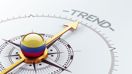 tendency: Colombia High Resolution Trend Concept Stock Photo