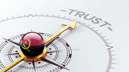 confianza concepto: Angola alta Resolution Trust Concepto