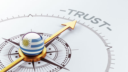confianza concepto: Uruguay Alto Resolution Trust Concept