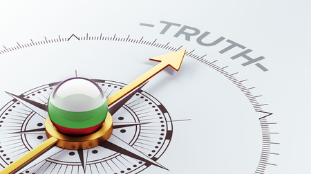 the truth: Bulgaria High Resolution Truth Concept