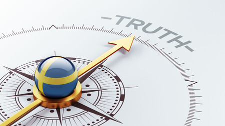the truth: Sweden High Resolution Truth Concept Stock Photo