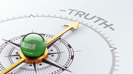 the truth: Saudi Arabia High Resolution Truth Concept Stock Photo