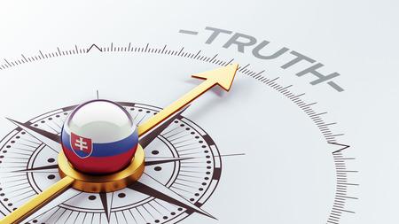 the truth: Slovakia High Resolution Truth Concept