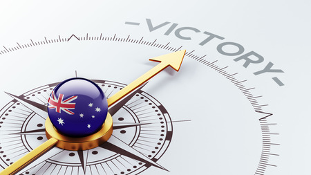 Australia High Resolution Victory Concept Stock Photo