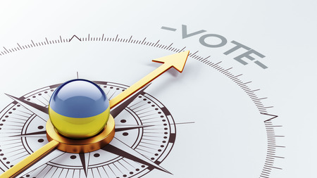 Ukraine High Resolution Vote Concept Stock Photo