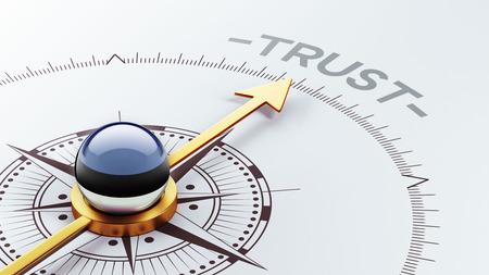 confianza concepto: Estonia alta Resolution Trust Concept