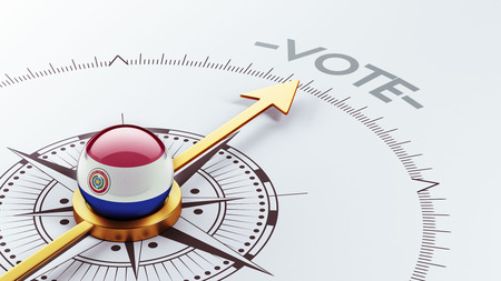 Paraguay High Resolution Vote Concept Stock Photo