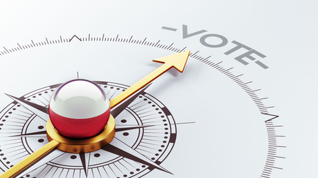 Poland High Resolution Vote Concept photo