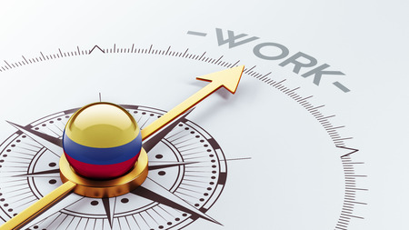 Colombia High Resolution Work Concept photo