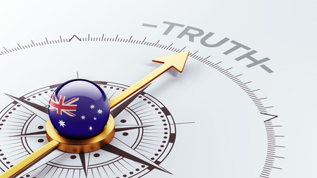 the truth: Australia High Resolution Truth Concept