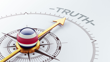 the truth: Costa Rica  High Resolution Truth Concept