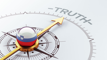 the truth: Slovenia High Resolution Truth Concept