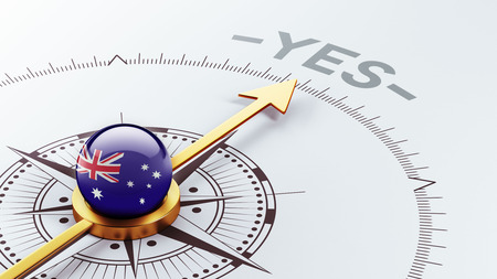 assent: Australia High Resolution Yes Concept Stock Photo