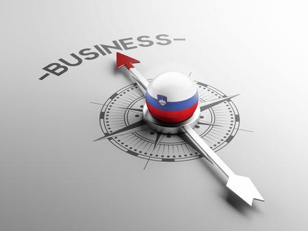 Slovenia High Resolution Business Concept