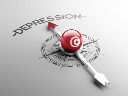 tunisie: Tunisia High Resolution Depression Concept