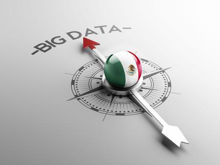 Mexico  High Resolution Big Data Concept