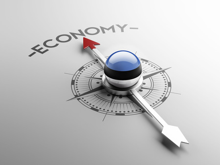 estonian: Estonia High Resolution Economy Concept Stock Photo