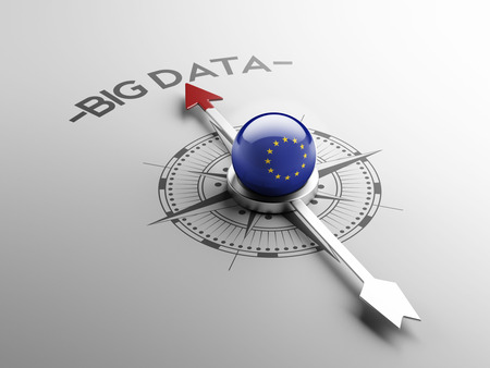 European Union High Resolution Big Data Concept photo