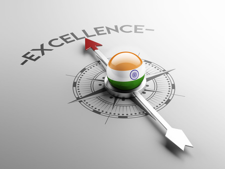India High Resolution Excellence Concept Stock Photo