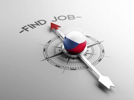 job hunting: Czech Republic High Resolution Find Job Concept