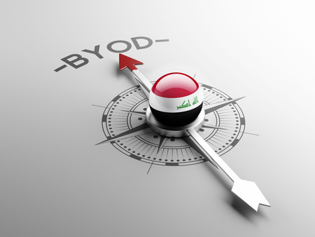 electronic guide: Iraq High Resolution Byod Concept Stock Photo