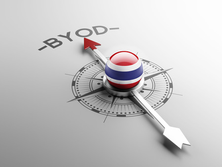 electronic guide: Thailand High Resolution Byod Concept Stock Photo